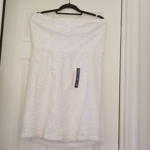 GAP Sleeveless White Dress Size 16 NWT